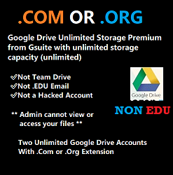 two-unlimited-google-drive-account-with-dot-Com-or-dot-org-extension